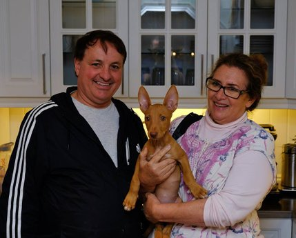 YaYa and her owners Barth & Debbie.